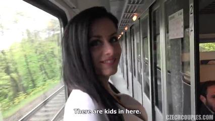 Парочка свингеров трахается с попутчиками в поезде